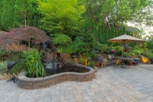 paver patio fish pond builder Bay Area