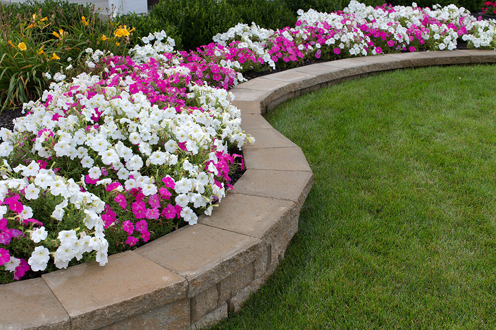 Paver retaining wall lawn landscaper bay are